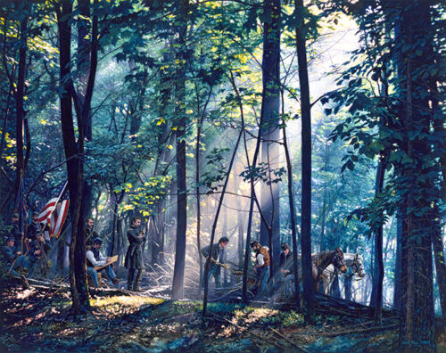 John Paul Strain's  SACRED GROUND ON LITTLE ROUND TOP S/N Classic Canvas Giclee