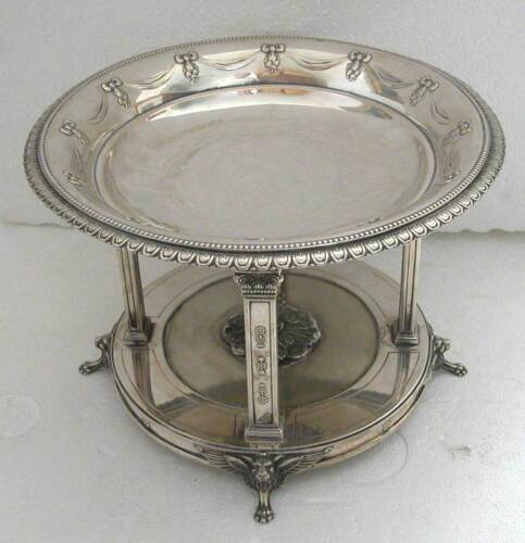 A FINE NEO CLASSICAL LOVELY DECORATED SOLID SILVER CENTER PIECE