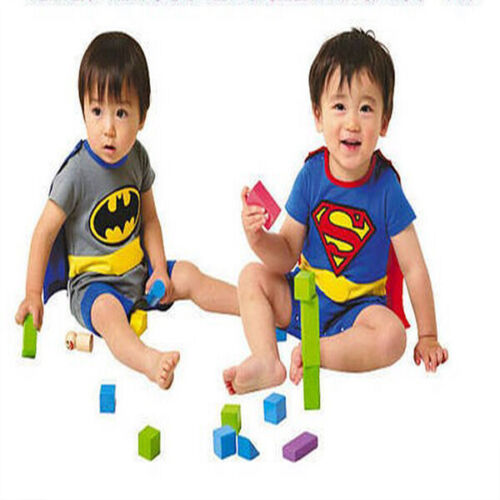 Baby Boy Girl Superhero Costume Bodysuit Outfit Romper Clothes size 3-18 months