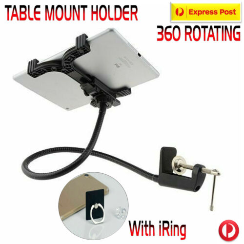 360 Rotating Lazy Mount Holder For iPad 3 4 Air Mini Galaxy + iRing Holder Hook