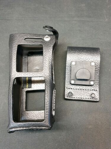 Genuine Motorola PMLN7268 Hard leather case with 3″ belt loop PMLN 7268A