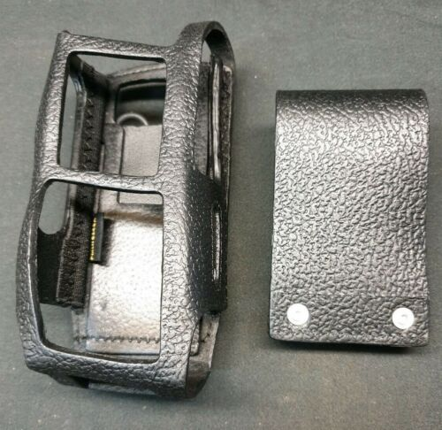 Genuine Motorola PMLN6249 Hard leather case with 3″ belt loop PMLN 6249A