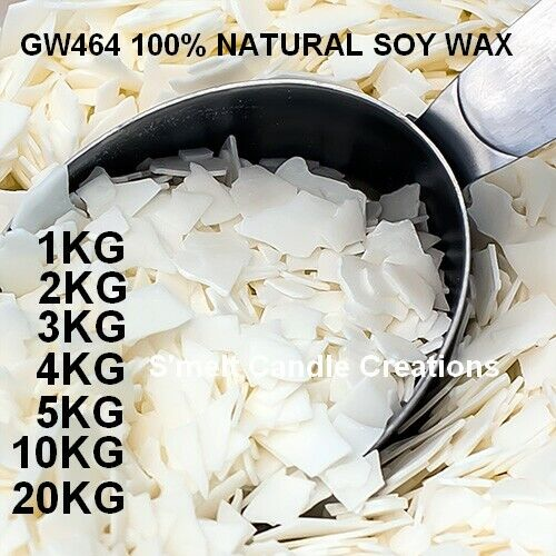 Professional Grade 100% Natural Soy Wax  Candle Making Supplies Crafts <br/> WE ONLY SELL CANDLE MAKING SUPPLIES - VISIT OUR STORE