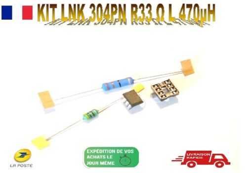 L1373,Kit LNK304PN, Self 470uH - 280mA, Resistance 33 ohms 3W, Support DIP8