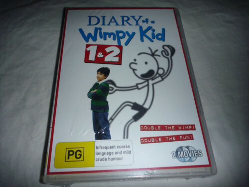 Diary of a Wimpy Kid 1 + 2 - New Sealed DVD - R4
