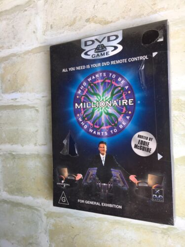 WHO WANTS TO BE A MILLIONAIRE - EDDIE McGUIRE - DVD GAME - NEW SEALED PACK