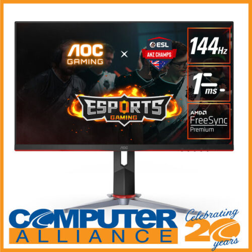 """23.8"""" AOC 24G2 FHD 144Hz IPS LED Gaming Monitor with Height Adjust"""