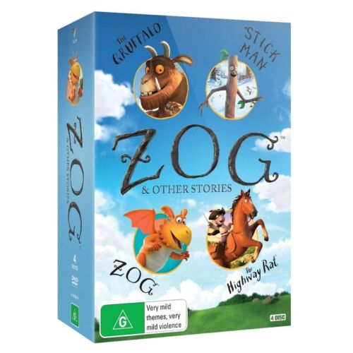 BRAND NEW ZOG And Other Stories Boxset (DVD, 4-Disc Set) R4 Gruffalo Stick Man