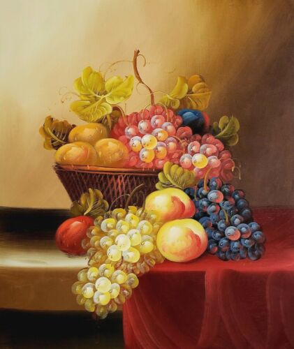 Fruits Still Life #8  , 20x24,100% hand Painted Oil Painting on Canvas