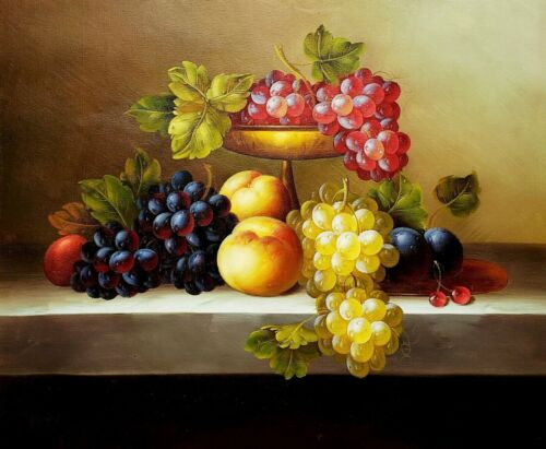 Fruits Still Life #10  , 20x24,100% hand Painted Oil Painting on Canvas