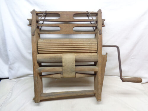 Antique Stillinans Defiance Crank Wood Washing Ringer Machine
