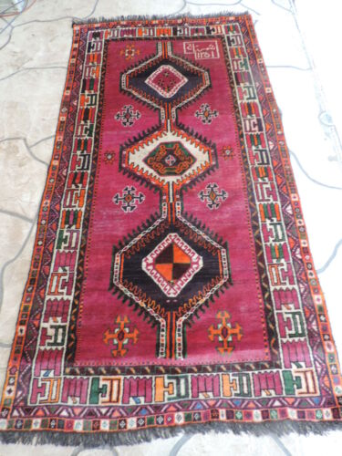 4x8ft. Afghan Tribal Balouch Wool Rug