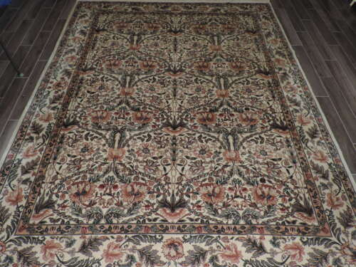 9x13ft. Handmade Floral Design Wool Room Size Rugaa