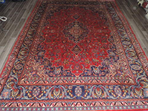 10x13ft. Vintage Sarouk Medallion Wool Room Size Rug