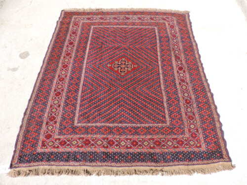 5x6ft. Natural Dyed Gul E Burgista Afghan Wool Rug
