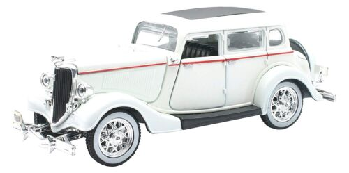 - NEW55213 - Voiture berline de 1934 couleur Blanche - FORD Deluxe Fordor -