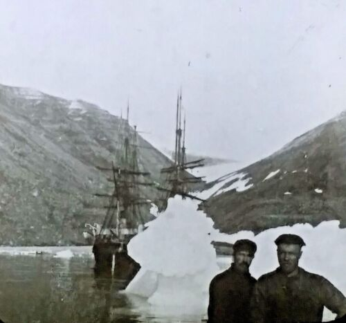 1901 Windward & Eric-Peary Expedition, Greenland, Magic Lantern Glass Slide
