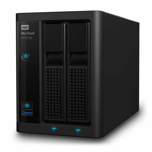 12TB 2-Bay NAS Server WD My Cloud PR2100 (2 x 6TB) WDBBCL0120JBK-SESN
