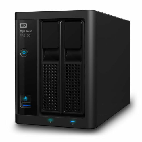 2-Bay NAS Server (2 x 4TB) WD My Cloud PR2100 8TB WDBBCL0080JBK-SESN