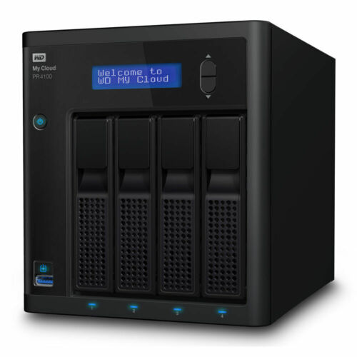 24TB 4-Bay NAS Server (4 x 6TB) WD My Cloud PR4100 WDBNFA0240KBK-SESN
