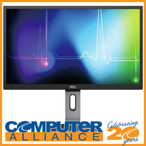 """27"""" AOC Q27P1 QHD IPS LED Monitor with Height Adjust and Speakers"""