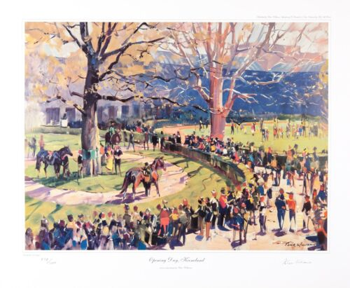 Equine Equestrian Prints by New Zealand Artist Peter Williams-Opening Day
