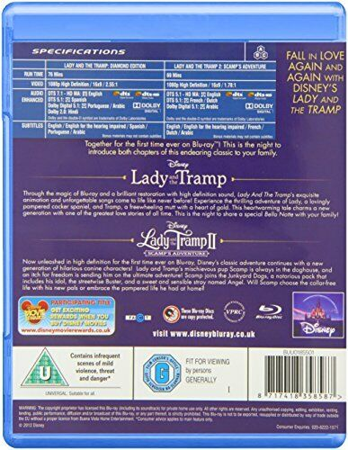 Lady and the Tramp 1 and 2 [Blu-ray] [1955] [Region Free]
