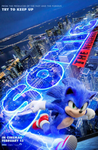 """Sonic the Hedgehog ( 11"""" x 17"""" ) Movie Collector's Poster Print - B2G1F"""