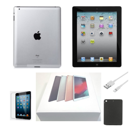 Apple iPad 2 16GB, Black, Wi-Fi Only, Comes With Bundle, Free Shipping, 9.7-inch
