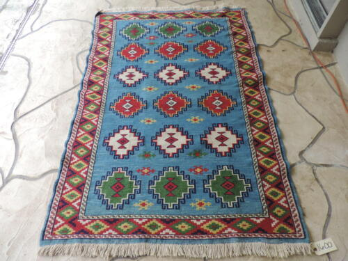 4x6ft. Handloomed Turkish Shirvan Kilim Wool Rug