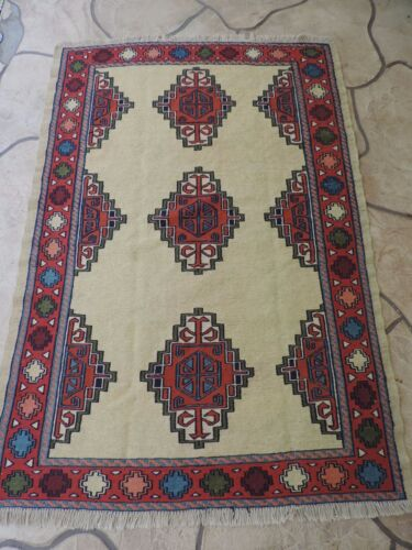 4x6ft. Handmade Turkish Shirvan Kilim Wool Rug