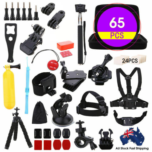 65pcs Accessories Pack Case Chest Head Floating Monopod GoPro Hero 8 7 6 5 4 3