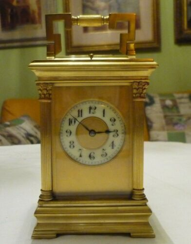 ANTIQUE  SEMI GIANT FRENCH  REPEATER CARRIAGE CLOCK by ARSENE MARGAINE