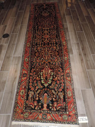 3x10ft. Handmade Vintage Malayer Wool Runner