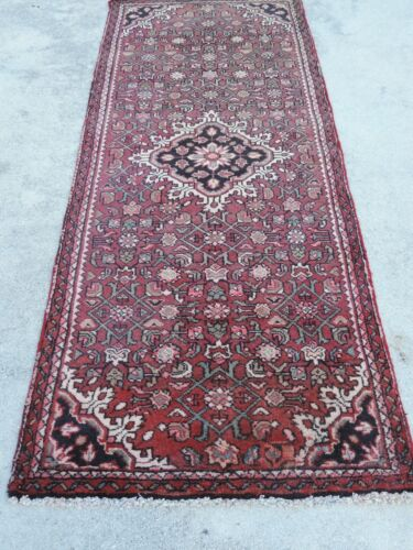 3x6ft. Vintage Hamedan Wool Runner
