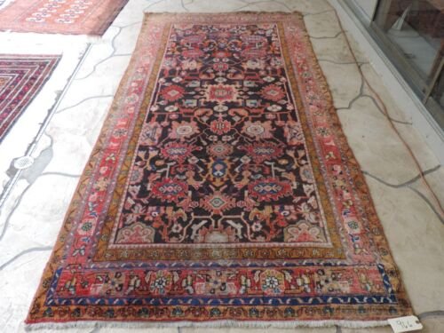 5x11ft. Handmade Antique Hamedan Wool Runner