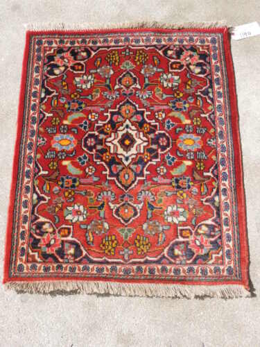 3ft. Almost Square Nice Antique Sarouk Wool Rug