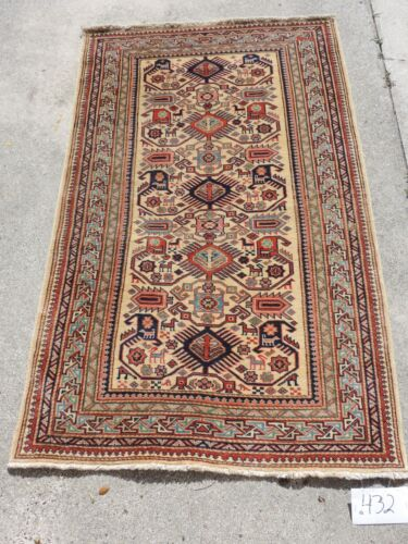 3x5ft. Handmade Shirvan Antique Look Wool Rug