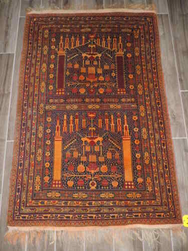 3x5ft. Beautiful Pictoral Balouch Wool Rug