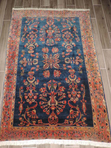 4x7ft. Handmade Antique Wool Rug