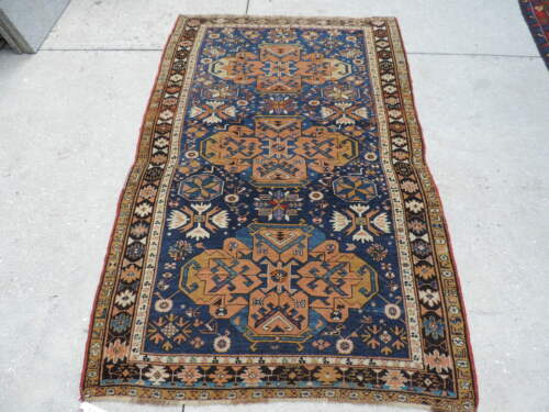 4x6ft. Antique Shirvan Caucasian Wool Rug