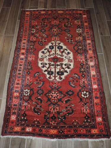 4x6ft. Vintage Hamedan Malayer Wool Rug
