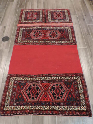 4x7ft. Horse Trapping Handmade Ardabil Wool Rug