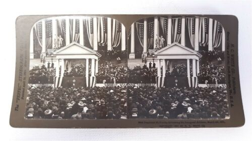 H.C. WHITE STEREOVIEW #8043 MCKINLEY INAUGURAL ADDRESS MARCH 4, 1901