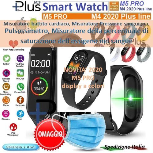 ⭐SMART WATCH M4 Plus 2020 Bluetooth Orologio per Android / ios Battito  Fitness⭐ <br/> ⭐⭐⭐OMAGGIO MASCHERINA di tipo chirurgico  ⭐⭐⭐