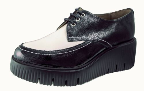 ZAPATOS MUJER/WOMENS SHOES WONDERS NEGRO PIEL MOCASINES CHAROL Ref.E-6204