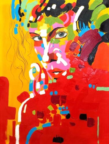 Abstract woman 2, Oil Painting on Canvas, 36x48, 100% Hand Painted.