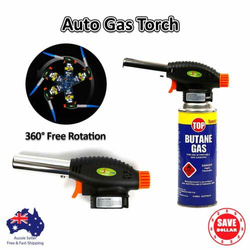 Tradeflame HANDYMAN SOLDERING TORCH KIT WITH GAS Auto Ignition Button*Aust Brand