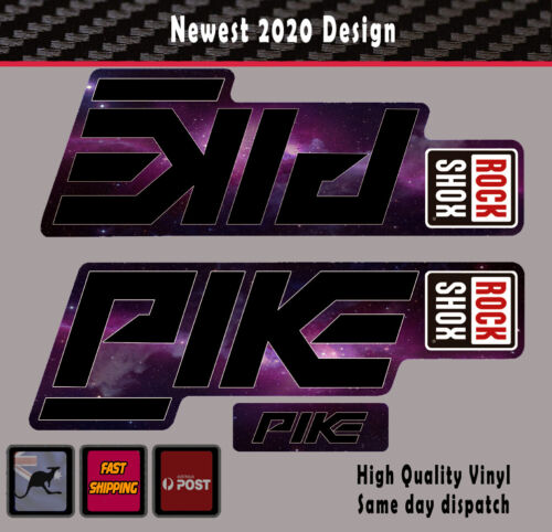 Rock Shox Super Deluxe RC3 Rear Shock MTB Decal Sticker Adhesive Stealth Purple