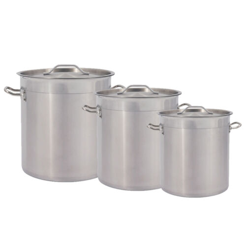 Stainless Steel Stock Pot 17/25/36/50L Cookware Commercial Large Soup Boiling